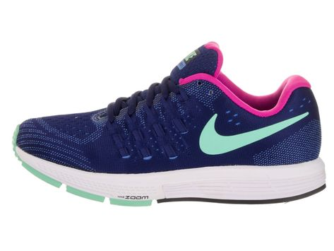 f127ae5a4e25 Nike Womens Air Zoom Vomero 11 Running Shoe Loyal Blue Fountain  Blue White Green Glow 6.5 BM US   Click image to review more details.