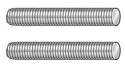 Fastener Assortments 180978 1 4 20 X 4 Plain 316 Stainless Steel Fully Threaded Studs 10 Pk Buy 316 Stainless Steel Carbon Steel