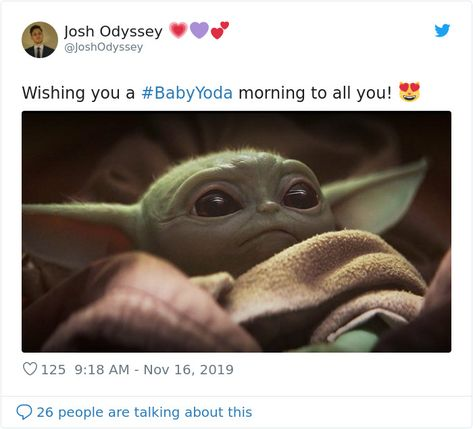 50 Year Old Baby Version Of Yoda Appeared In The Mandalorian Episode And People Can T Handle The Cuteness Yoda Star Wars Listening To Music