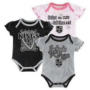Los Angeles Kings Girls  Infant Toddler 3 Pk Body Suit   Target  9ce352710160