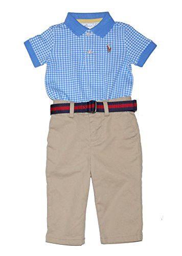 Ralph Lauren Baby Boys Polo Top Shorts Set Trendy Baby Boy