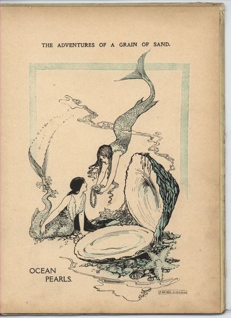 The adventures of a grain of sand - ocean pearls. Sketches, Vintage Art, Art Drawings, Fantasy Art, Illustration Art, Mermaid Art, Art Inspiration, Vintage Illustration, Aesthetic Art