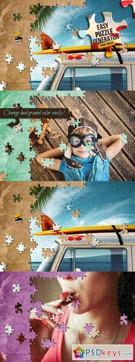 Easy Puzzle Generator 185106   de PSDKEYS   Photo puzzle, Puzzle