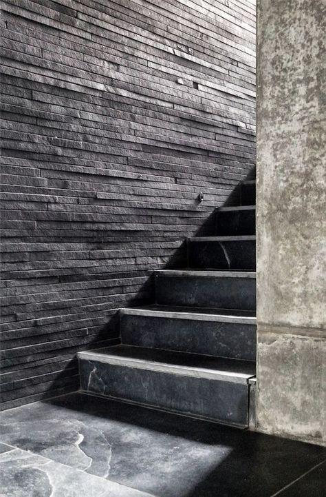 Schiefer Treppen sind ästhetische Bauteile, die sich harmonisch in - exklusives treppen design