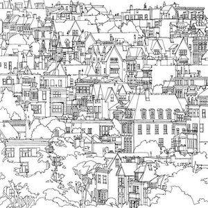 Fantastic Cities Un Libro Para Colorear Dedicado A Los Adultos Diseno With Images