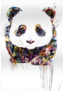 Panda Poster Panda Art Art Drawings Animal Drawings