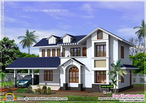 Kerala Style House With Free Floor Plan In 2019 House