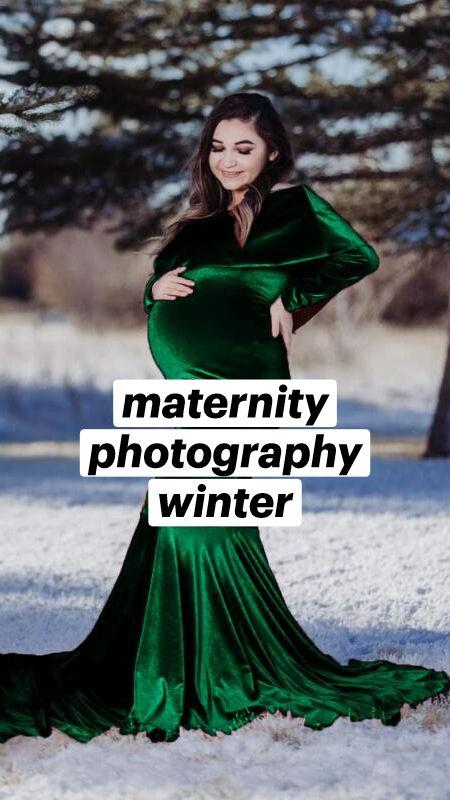 maternity photography winter