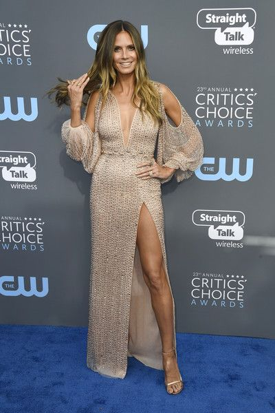 TV personality Heidi Klum attends the 23rd Annual Critics' Choice Awards.