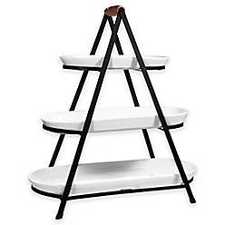 3 Tier Oblong Ceramic Server In White Bed Bath Beyond Bed Bath And Beyond Decor Essentials Oblong