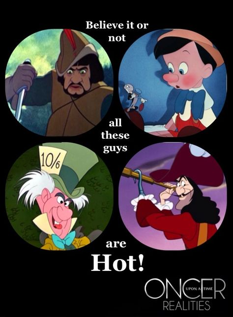 Only OUAT fans will get this. 〖 Once Upon a Time The Huntsman Sheriff Graham Humbert Pinocchio August Booth Jefferson The Mad Hatter Captain Hook Killian Jones funny 〗 Best Tv Shows, Best Shows Ever, Favorite Tv Shows, My Favorite Things, Once Upon A Time Funny, Once Up A Time, Once Upon A Time Peter Pan, Fangirl, Between Two Worlds
