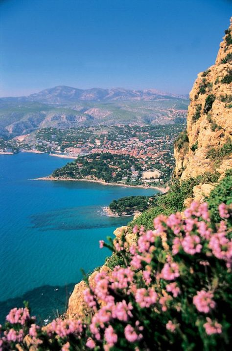 Cote d'Azur, France - from the top of Eze la Village looking down to Villefranche-we hiked this - but only going DOWN !