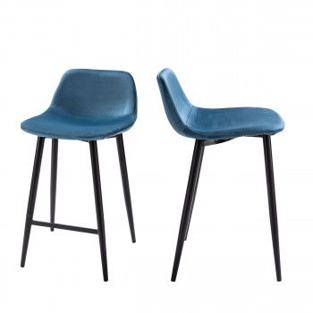 Chilly 2 Chaises De Bar Metal Et Simili 63cm En 2020 Tabouret De Bar Tabouret Tabouret De Bar Design