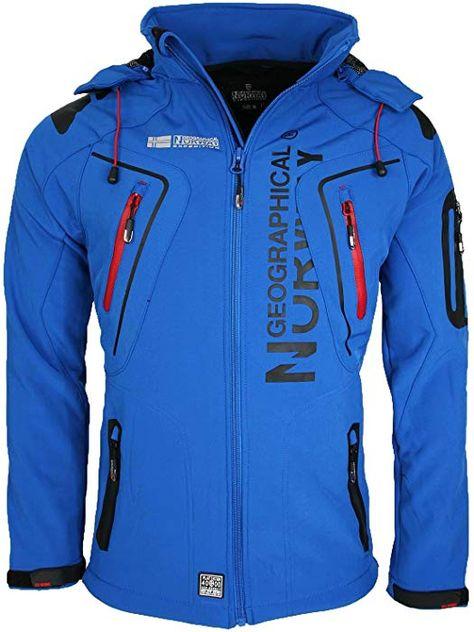 Chaqueta azul de hombre con capucha de Geographical Norway