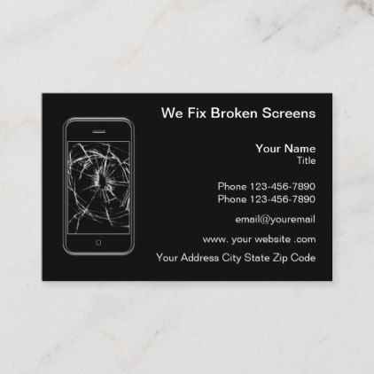 Cellphone And Device Repair Business Card Zazzle Com Business Cards Cards Repair