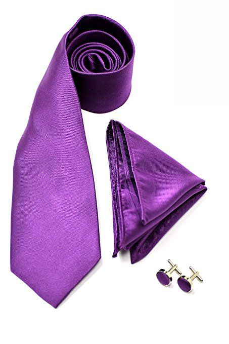 Mens Cavani Tie Gift Set With Matching Pocket Square Cuff Links Tie Pin Gift Box