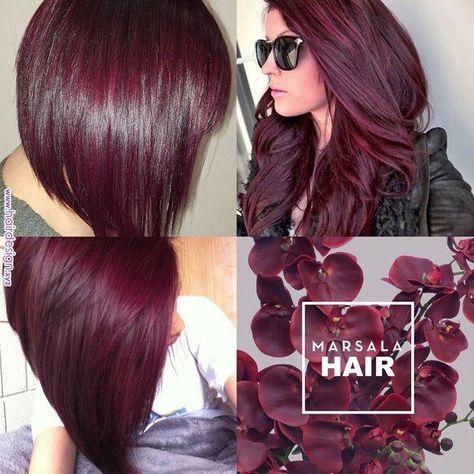 Make Rosa: Cabelos Marsala | Hair in 2019 | Pinterest | Hair, Hair styles and Red hair color #RedHair