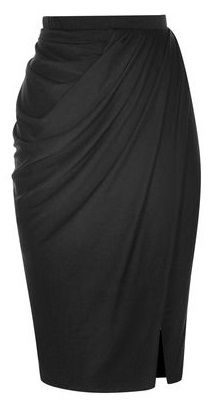 Black Draped Pencil Skirt - Im pinning for a chance to win the DownEast Basics Fall Back to Basics Sweepstakes.HMH: Black Draped Pencil Skirt Pretty please get in my wardrobe!Black Draped Pencil Skirt - might be more flattering to post-baby pooch tha