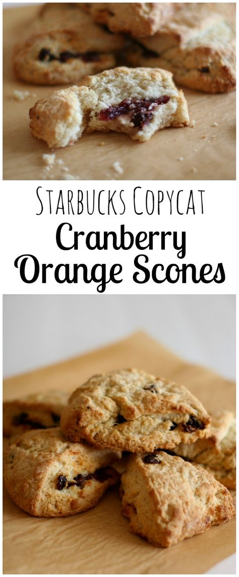 This copycat Starbucks Cranberry Orange Scone Recipe is simple to make and freeze so you can pull them out when you need them!