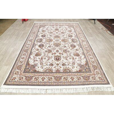 Astoria Grand Boos All Over Floral Tabriz Turkish Brown Green Area