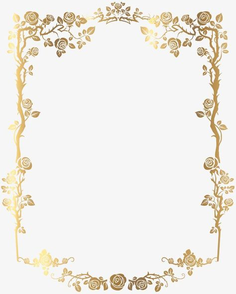 Gold,frame,flowers,Pattern,Texture,Tile pattern,Art pattern,Golden border,French border,PNG picture,French border