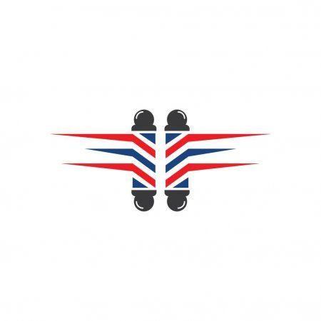Barber Pole Set Logo Ilustration Stock Vector Affiliate Set Pole Barber Logo Ad Barber Logo Barber Pole Barbershop Design