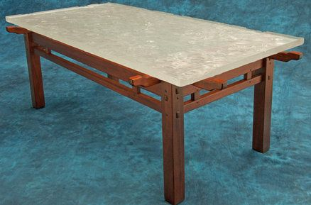 Rafter Tail Coffee Table W Fused Gl