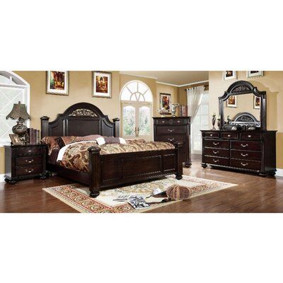 Darby Home Co Bohn Four Poster Bed Size California King Bedroom Furniture Sets Bedroom Sets Walnut Bedroom