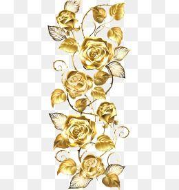 Golden Rose Flowers Flowers Flower Golden Vector Rose Vector Flower Png Images Flower Backgrounds Beautiful Flower Designs
