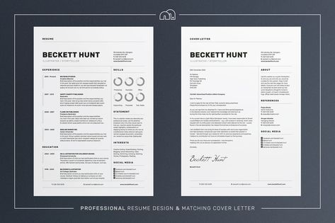 Resume\/CV - Tanner by bilmaw creative on Creative Market - whats cover letter