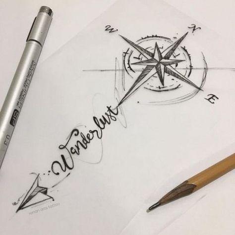 65 amazing compass tattoo designs and ideas #tattoo #forearm #tattoo
