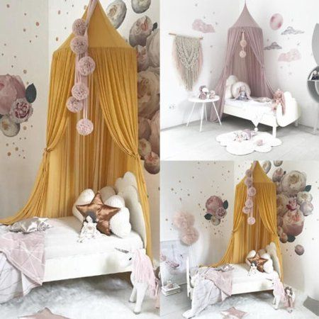 Dome Bedding Girl Princess Mosquito Net Baby Bed Canopy Tent Curtain Room Decor Walmart Com In 2020 Baby Bed Canopy Toddler Girl Room Girl Beds