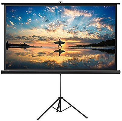 Amazon Com Projector Screen With Stand Taotronics Indoor Outdoor Projection Screen Outdoor Projection Screen Best Projector Screen Outdoor Projector Screens