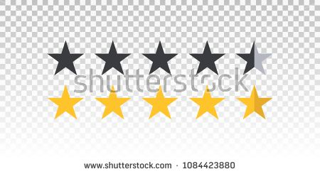 Vector Yellow And Black Star Rating Bar Isolated On Transparent