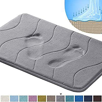 Amazon Com Memory Foam Coral Fleece Non Slip Bathroom Mat Super Soft Microfiber Bath Mat Machine Washable Bath Soft Bath Mat Washable Bath Rugs Bathroom Mats