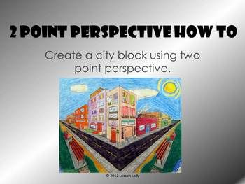 The Lesson Lady presents a 40 slide two point perspective PowerPoint on 6th how to draw a city block. Your students will enjoy this lesson that is alwa...