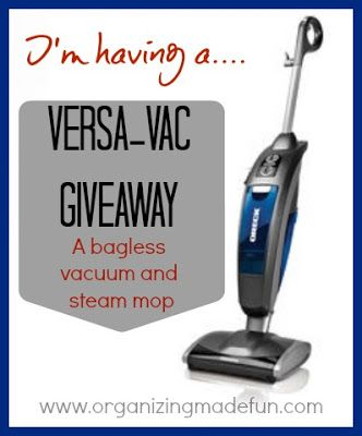 Oreck Versa Vac Giveaway: Enter NOW
