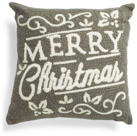 18x18 Merry Christmas Pillow Christmas Pillow Pillows Winter