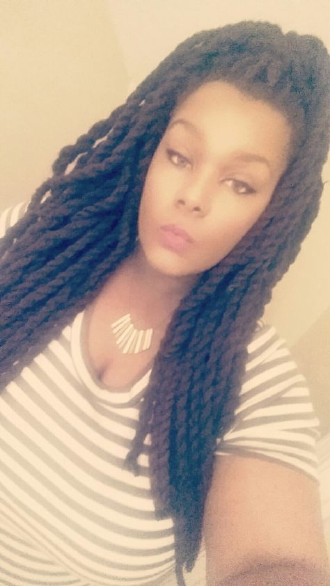 Individual Crochet Yarn Twist Yarn Braids Pinterest