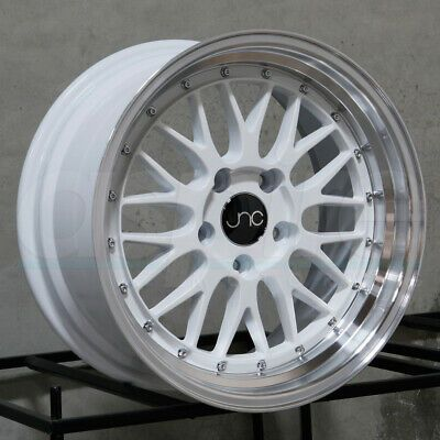 Advertisement Ebay 17x8 5 17x9 5 Jnc 005 Jnc005 4x100 4x114 3 30 30 White Machine Lip Wheel Set 4 Wheel Rims Wheel Jeep Wheels