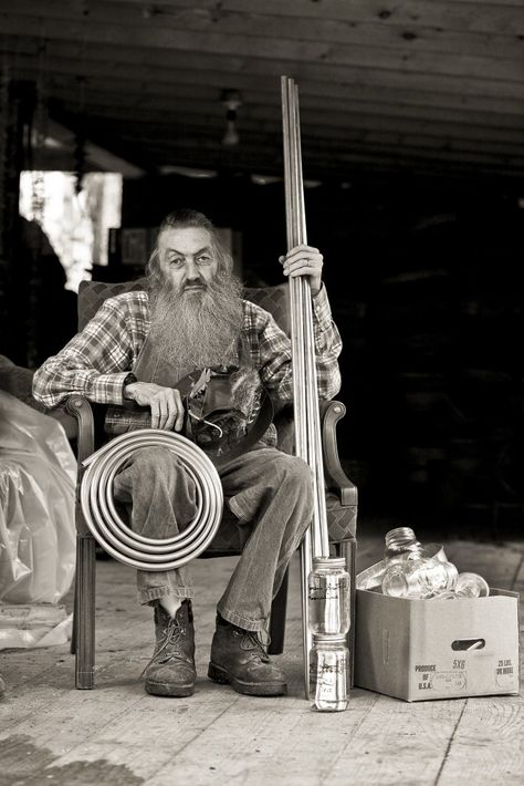 A portrait of Popcorn Sutton taken the day before his death in March 2012. Photo by Andy Armstrong.