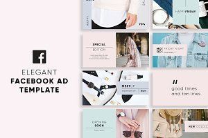 Blank Facebook Ad Template