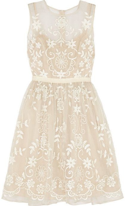 Needle Thread Embroidered silk-organza dress is on sale now for - 25 % !