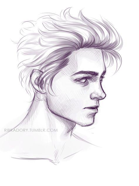 Guy Drawing Digital Long Hair Side View 19 20 Realistic Cartoon Drawing People Guy Drawing Cool Drawings