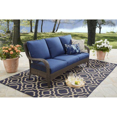 Better Homes And Gardens Colebrook Outdoor Sofa Walmart Com Outdoor Sofa Outdoor Rocking Chairs Home And Garden