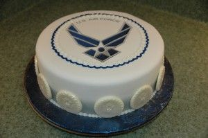 I think this Air Force Cake is awesome!