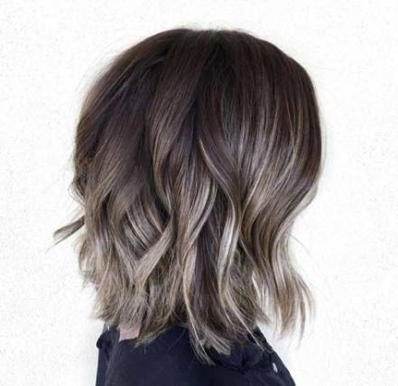 Super Hair Color Ash Grey Bangs Ideas Grey Brown Hair Short Hair Styles Grey Ombre Hair