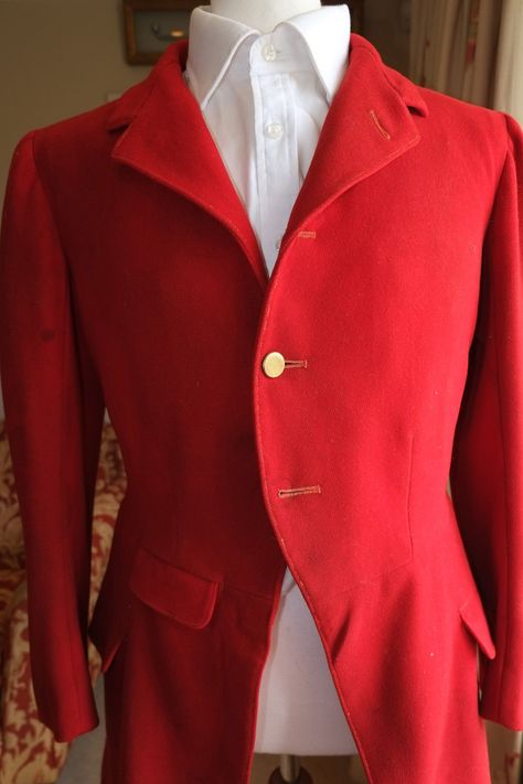 Fox Hunting Coat Jacket 38l Pinks Scarlet Hunt Riding Horse Whip