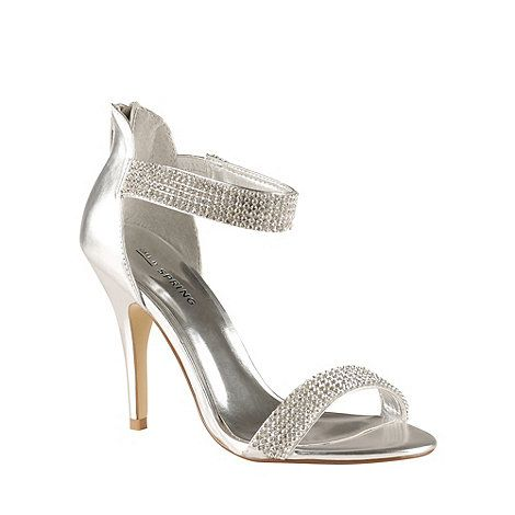 Call It Spring Silver 'Samatorza' high heeled sandals at