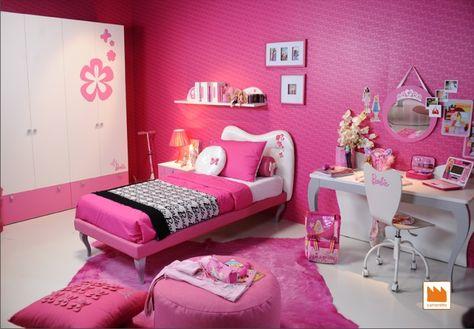 cameretta di barbie   Arredamento camera da letto rosa ...